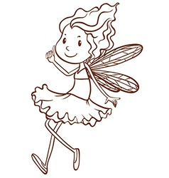 A plain sketch of a fairy vector image