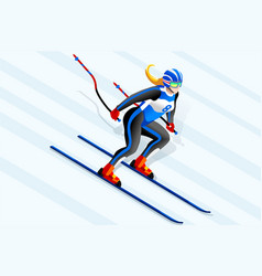 alpine skiing clipart vector image