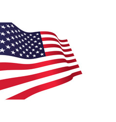 american flag on wind vector image
