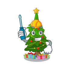 Automotive christmas tree toy shaped a character vector