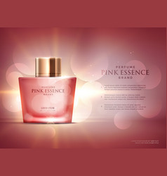 Awesome perfume essence advertisement concept vector