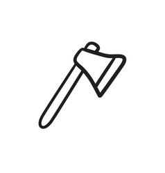 Ax sketch icon vector