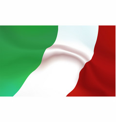 background italy flag in folds tricolour banner vector image