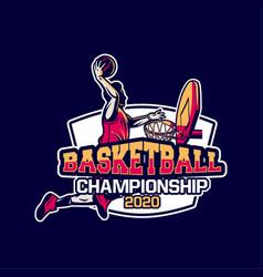 basketball championship 2020 modern vector image