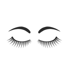 Black eyebrows and eyelashes logo vector