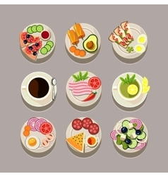 Breakfast Concept With Fresh Food vector image
