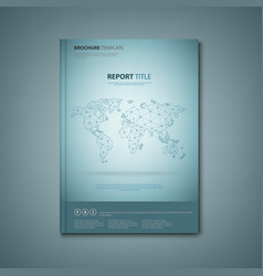 brochures book or flyer with abstract map of the vector image