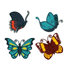 Butterflies icon for decoration design vector