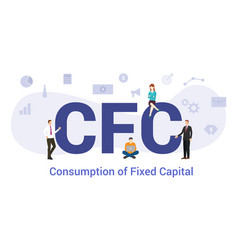 Cfc consumption fixed capital concept with big vector