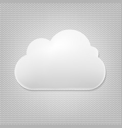 cloud icon with grey background vector image