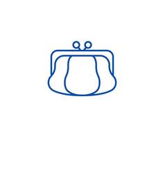 coin purse line icon concept coin purse flat vector image