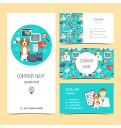 Collection of promotional products for vet clinic vector image