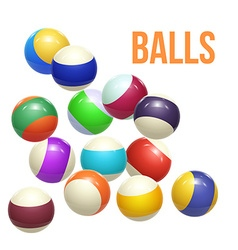 Colorful Striped balls 3d Spheres Balls isolated vector image