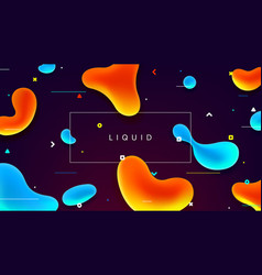 colorful web banner with abstract fluid shapes vector image