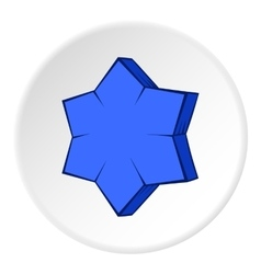 Convex star icon cartoon style vector