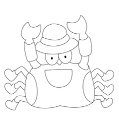 crab on a white background vector image vector image