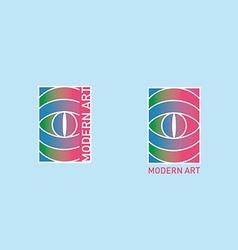 creative logotype on the theme of of modern art vector image