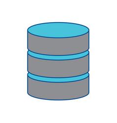 Database data center icon image vector