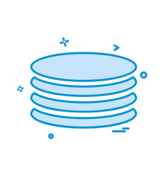database icon design vector image
