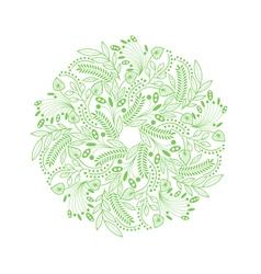 Decorative floral round composition vector