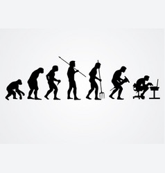 evolution human work silhouettes vector image