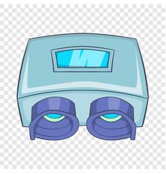 eye checking machine icon cartoon style vector image