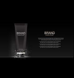 fashion design makeup cosmetics product templat vector image