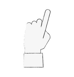 Finger tap icon image vector