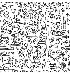 Folk ethnic dance seamless pattern for your vector