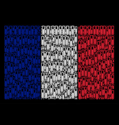 France flag collage of test tube items vector