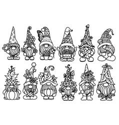 gnome set vector image