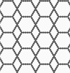Gray small hexagons forming net vector