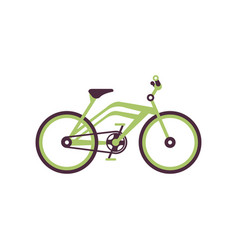 Green bike modern bicycle vector