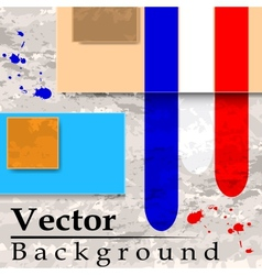 Grunge background with plates vector image