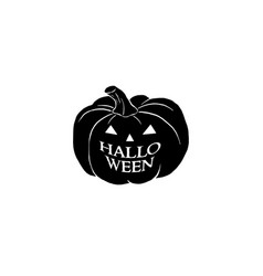halloween black and white isolated vector image