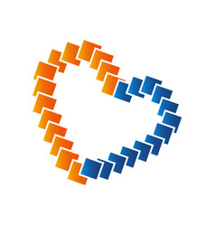 heart icon logo heart logo heart shape love logo vector image