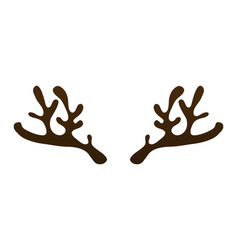 Horns of a reindeer on a white background vector