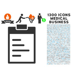 Inventory pad icon with 1300 medical business vector