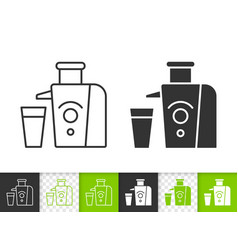 juicer simple black line icon vector image