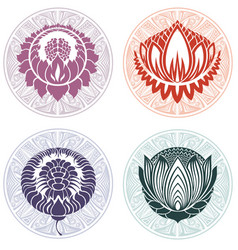 Lotus logo templates vector