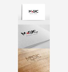 Magic logo with ace card vector