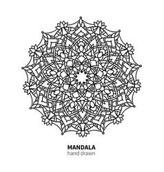 Mandala flower drawing decorative boho vector