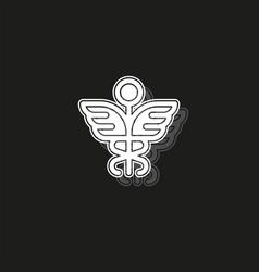 Medical symbol - caduceus icon - health sign vector