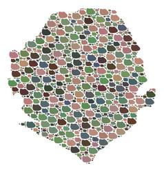 Mosaic map of sierra leone of stones vector