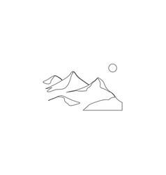 mountain flat icon vector image