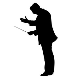 Music conductor silhouette orchestra leader vector