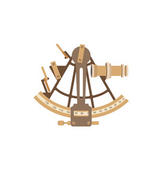Old ship sextant vector