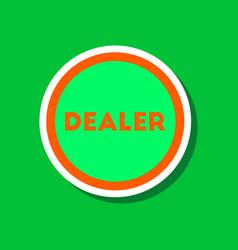 paper sticker on stylish background poker chip vector image