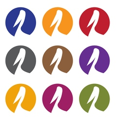 Pelican web icons set design template vector