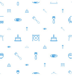 plate icons pattern seamless white background vector image